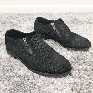 Free People Balboa Darby Croc Embossed Flat Loafer
